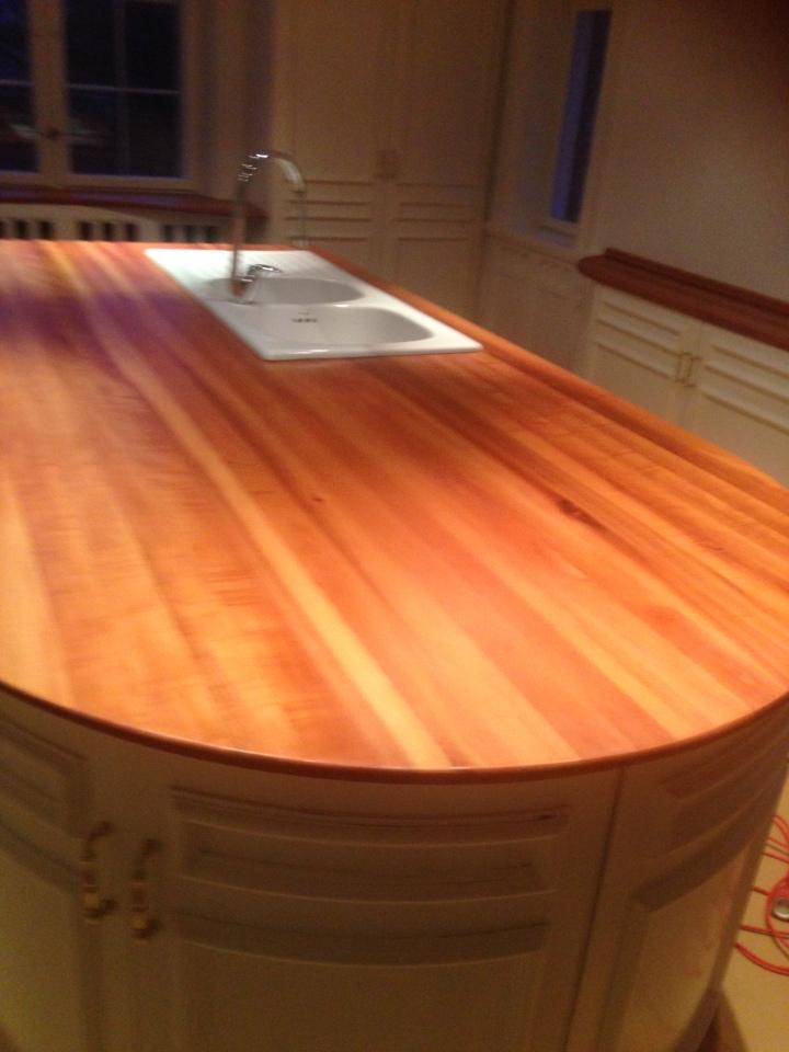 oliering af køkkenbordplade